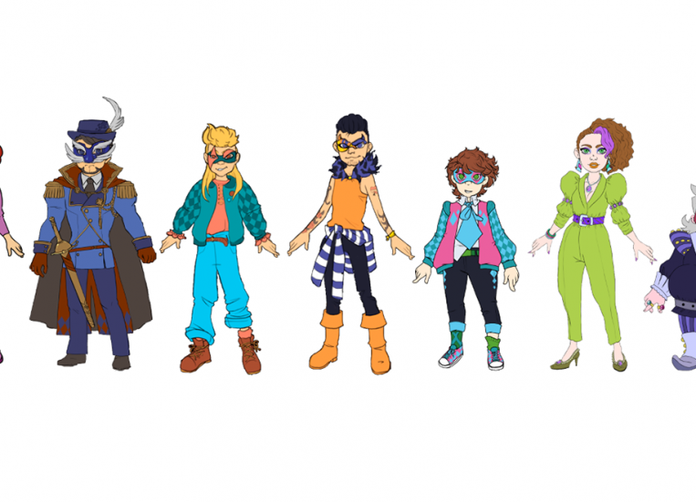 All the seven game characters.